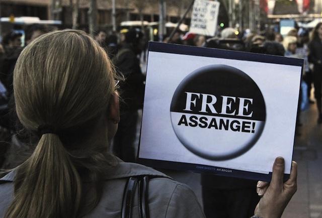 Assange manifestante