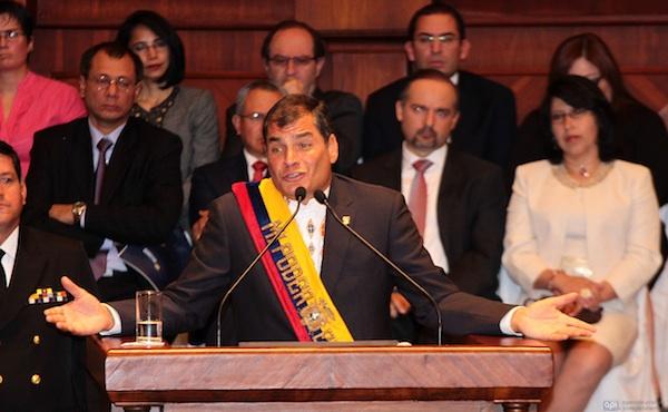 Correa, informe anual. Foto de Archivo, La República.