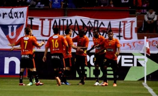 QUITO 18 DE AGOSTO DE 2012, En el estadio Casa Blanca Liga de Quito recibe al Dep. Cuenca APIFOTO/JAVIER CAZAR
