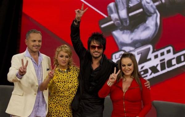 Miguel Bose, Paulina Rubio, Beto Cuevas, Jenni Rivera