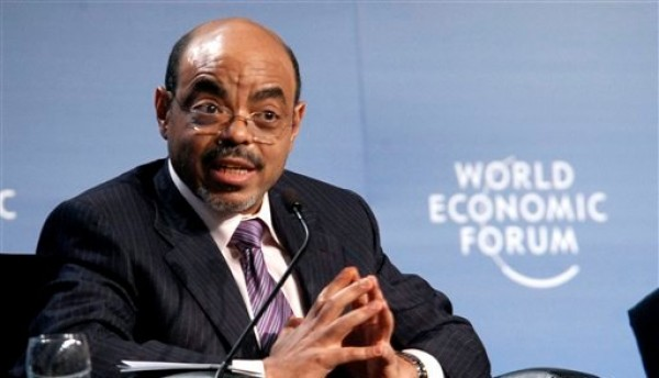 Esta fotografía del 6 de mayo del 2010 muestra al primer ministro etíope Meles Zenawi mientras habla en el Foro Económico Mundial sobre Africa del 2010 en Dar es Salaam, Tanzania. Meles falleció el lunes 20 de agosto del 2012 tras varias semanas de enfermedad. Tenía 57 años. (Foto AP/Khalfan Said, archivo)