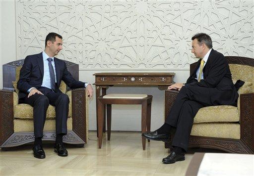 Bashar Assad, Peter Maurer