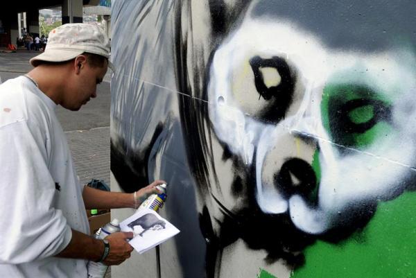 graffiti metro Medellín