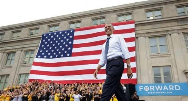 El presidente Barack Obama se dirige al podio durante un acto de campaña en la Universidad de Iowa en esta fotografía de archivo del 7 de septiembre de 2012, en Iowa City, Iowa. (Foto AP/Pablo Martínez Monsiváis)