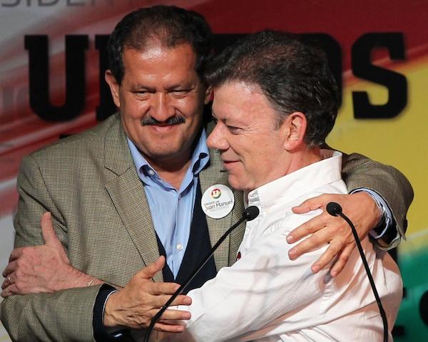 Juan Manuel Santos, Angelino Garzon