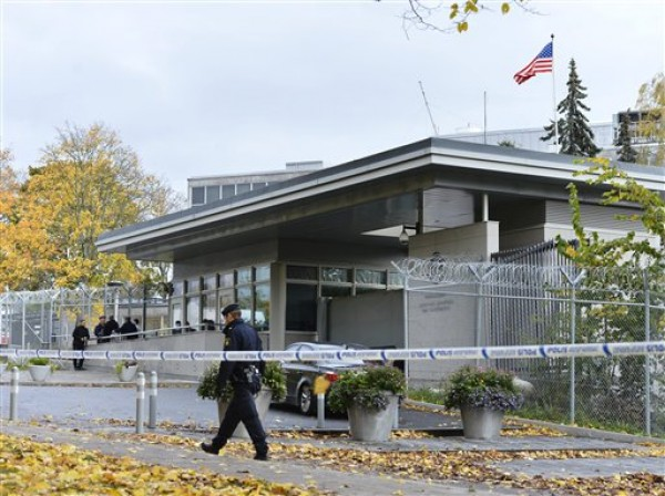 US EMBASSY EVACUATED IN SWEDEN
