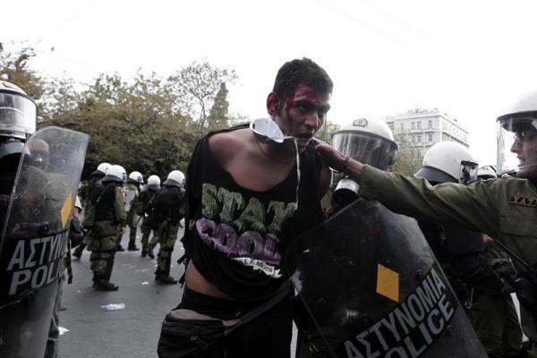 grecia merkel protestas