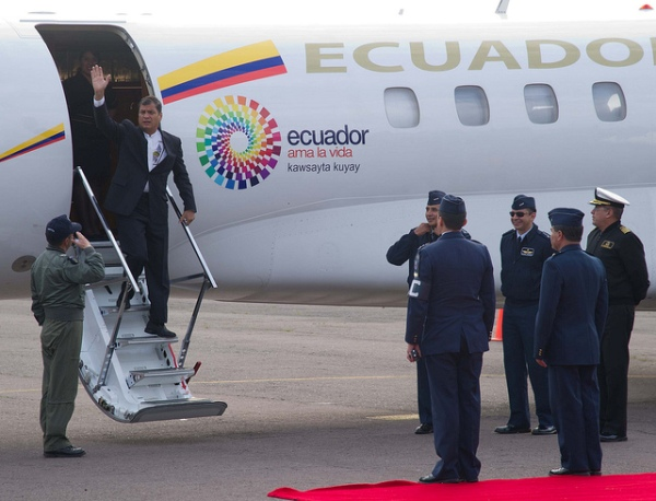 El presidente Rafael Correa. Foto de archivo