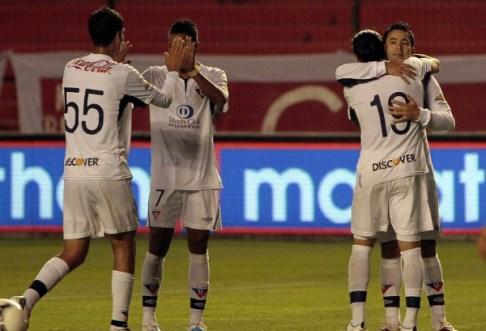 QUITO 21 DE NOVIEMBRE DE 2012,  En el estadio Casa Blanca Liga de Quito recibe al Dep Quito, APIFOTO