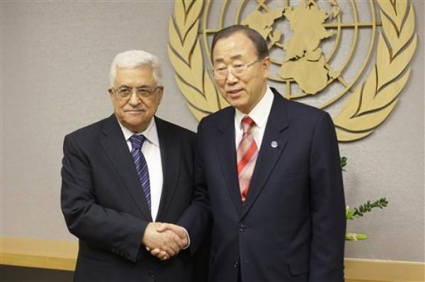 Mahmoud Abbas, Ban Ki-moon