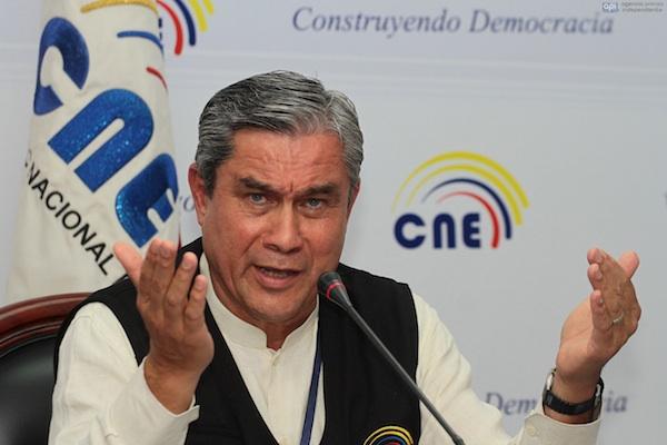 RUEDA DE PRENSA DEL PRECIDENTE DEL CNE