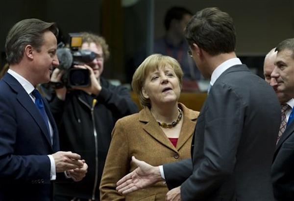 David Cameron, Mark Rutte, Angela Merkel