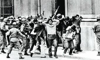 El golpe, en 1973.
