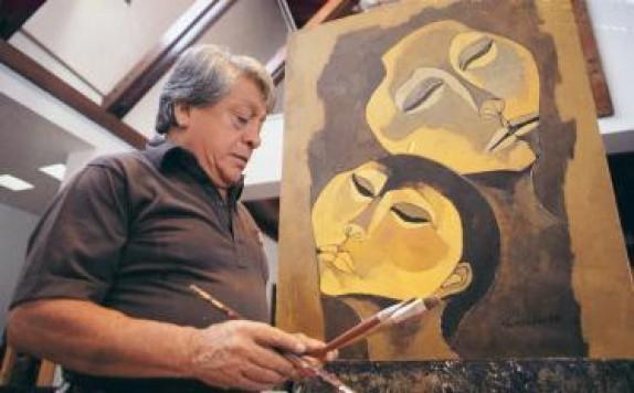 Oswaldo Guayasamín, pintor ecuatoriano. Foto de Archivo, La República.