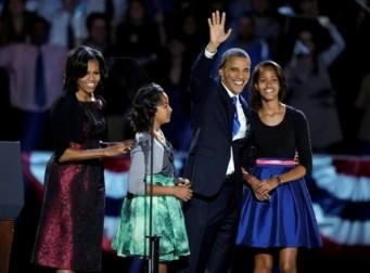 Obama y su familia.