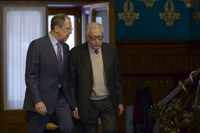 Sergey Lavrov, Lakhdar Brahimi
