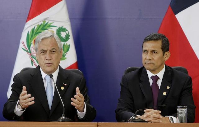 Ollanta Humala, Sebastian Pinera