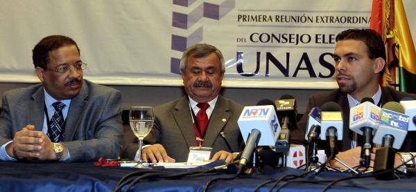CONSEJO ELECTORAL DE UNASUR SE REUNIO CON EL CONSEJO NACIONAL ELECTORAL