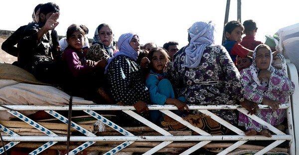 Grupo de refugiados sirios. Foto de Archivo, La República.