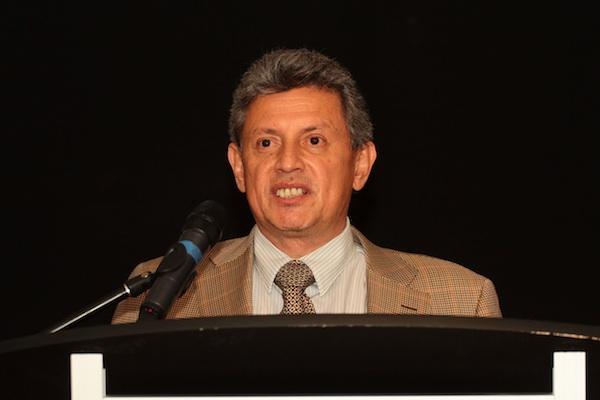Pedro Delgado mientras renunciaba a su cargo el 19 de diciembre de 2012. Foto: API