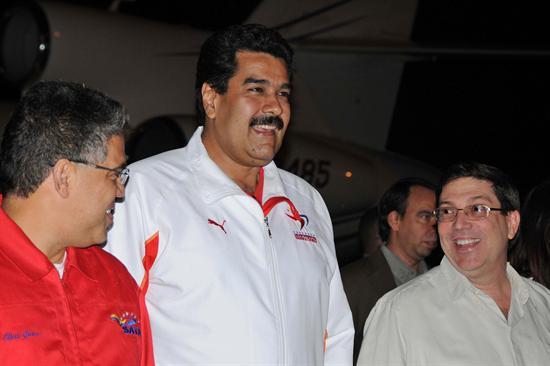 Maduro llega a Cuba
