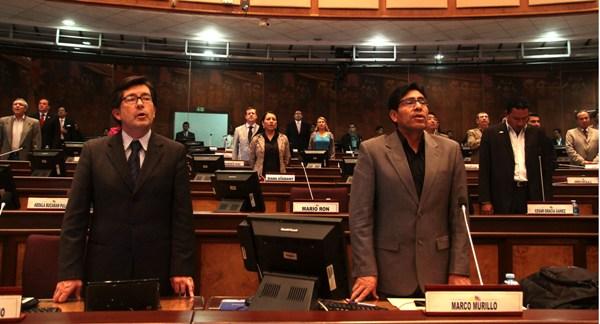 QUITO 2 DE enero 2013. Sesion del Pleno No. 212. La Asamblea Nacional Analiza el pedido de licencia de el Presidente de la Republica Rafael Correa para iniciar su proceso de campaña electoral. FOTOS API / JUAN CEVALLOS.