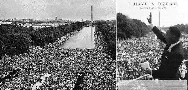 Discurso de Martin Luther King en el National Mall de Washington. Foto de Archivo, La República.