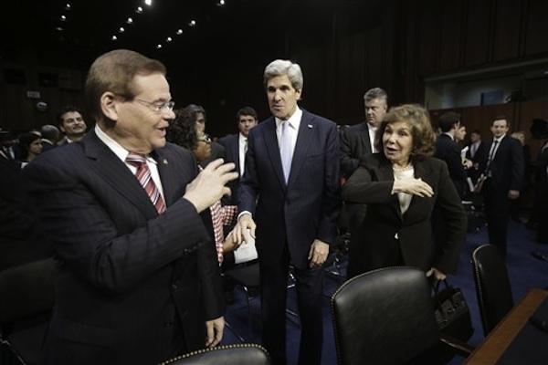 John Kerry, Robert Menendez, Teresa Heinz,