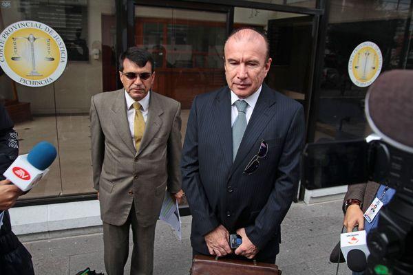 QUITO 25 DE ENERO DEL 2013. Pablo Chambers acude a la Corte Provincial de Pichincha. FOTOS API / JUAN CEVALLOS.