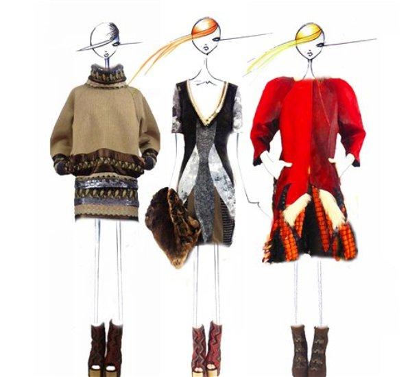Bocetos de diseño de la colección de Custo Barcelona que serán presentados en la Semana de la Moda de Nueva York el domingo10 de febrero de 2013 en una imagen proporcionada por Custo Barcelona. (Foto AP/Custo Barcelona)