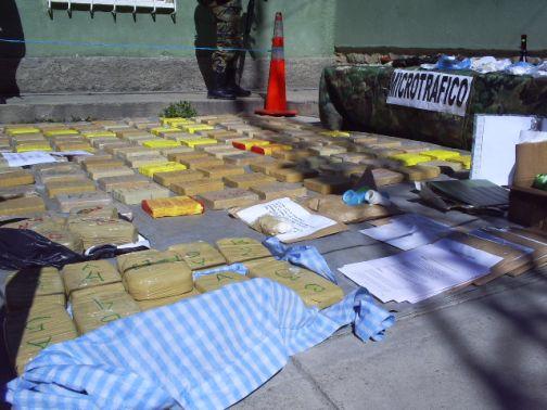 Decomiso de droga en Bolívia. Foto de Archivo, La República.