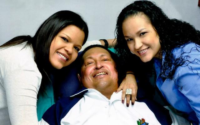 Hugo Chavez, Rosa Virginia Chavez , Maria Gabriela Chavez