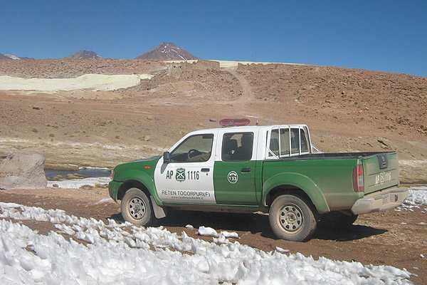 Frontera entre Chile y Bolivia.