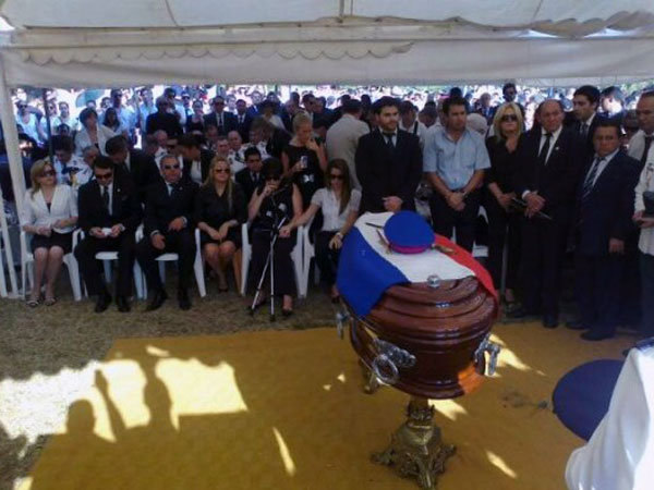Lino Oviedo entierro