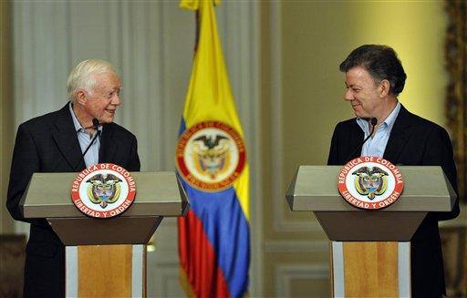 Juan Manuel Santos, Jimmy Carter