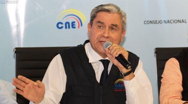 QUITO 17 DE FEBRERO DEL 2013. Rueda de prensa del CNE. FOTOS API / JUAN CEVALLOS.