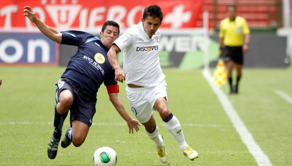 Foto de archivo de Luis Saritama jugando para Liga de Quito. Foto API.