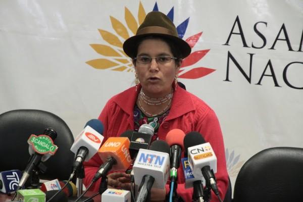 Asambleísta Lourdes Tibán. Foto de Archivo, La República.