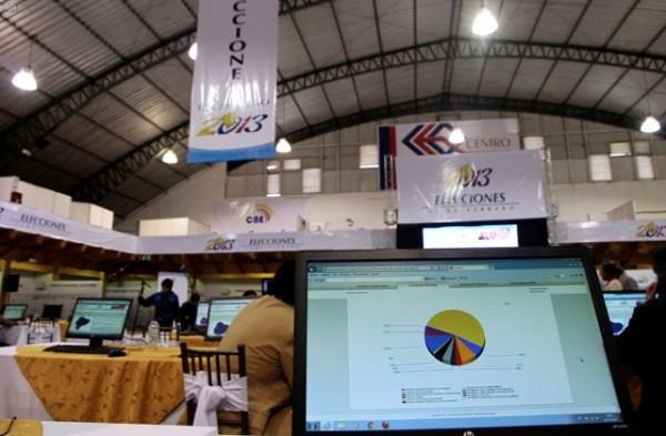 QUITO 19 DE FERBERO DEL 2013. En el centro de ecposiciones Quito, continua el proceso de conteo de votos, este dia se abrio el servicio de consulta de resultados para las personas interesadas. APIFOTO/DANIEL MOLINEROS