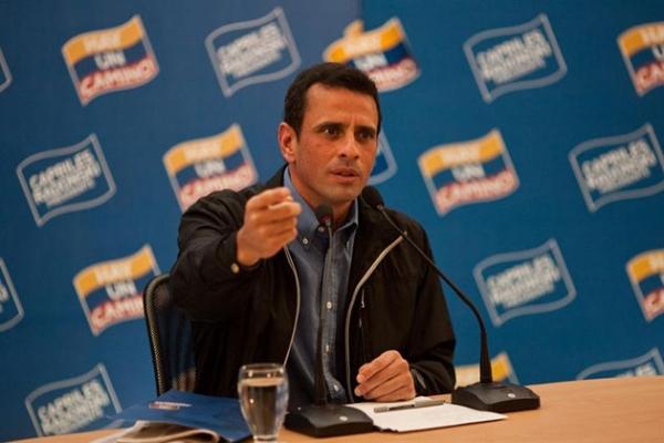 Lider de la oposicon Capriles