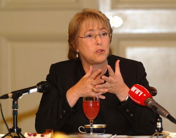 La presidenta de Chile Michell Bachelet. Foto de Archivo: La República.
