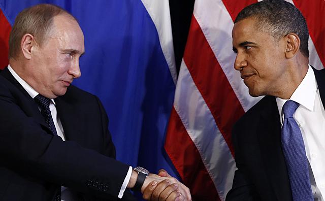 Vladimir Putin y Barack Obama. Foto de Archivo, La República.