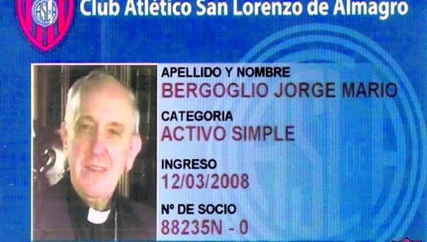 Papa socio de San Lorenzo