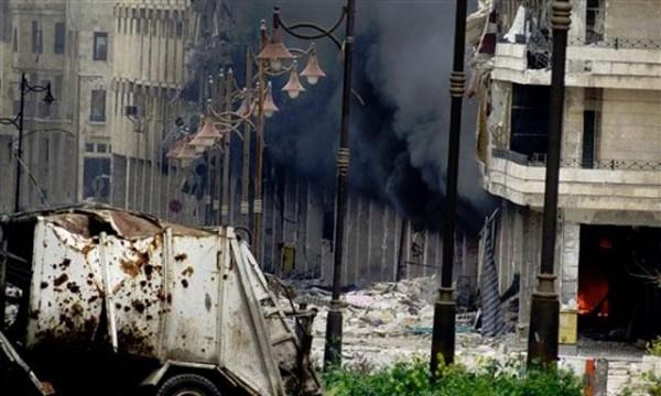 El centro de Damasco sufre de ataques todo el día
