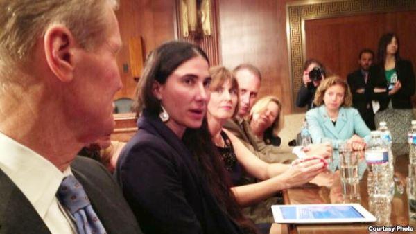 Yoani en el congreso estadounidense.