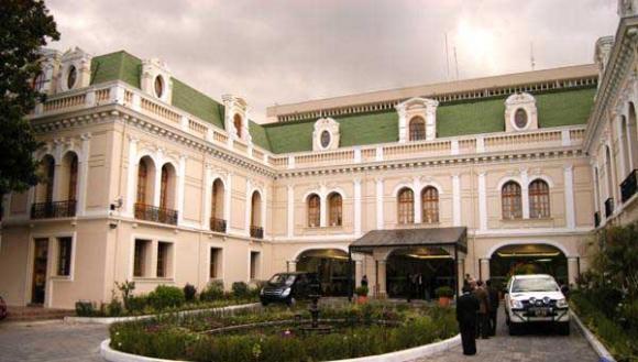 Palacio de Najas, edificio de la Cancillería de Ecuador en Quito. Foto de Archivo, La República.