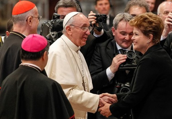 Pope Francis, Dilma Rousseff