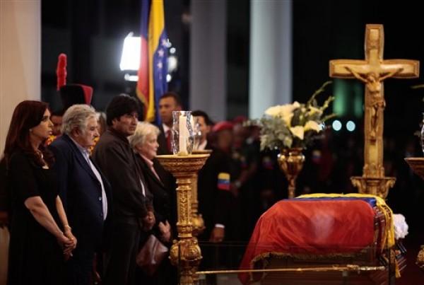 Cristina Fernandez, Jose Mujica, Evo Morales Lucía Topolansky
