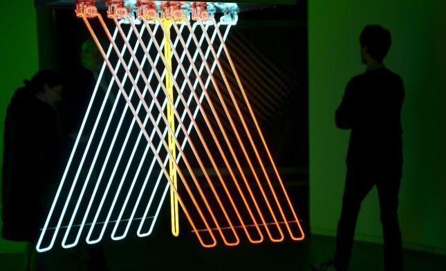 """Un hombre visita la exposición """"Dynamo - Un siglo de luz y de movimiento en el arte 1913-2013"""" en el Grand Palais en París (Francia) hoy, martes 9 de abril de 2013. La exposición se celebra del 10 de abril al 22 de julio de 2013. EFE"""