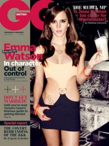 Emma Watson en la portada de la revista GQ.